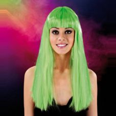 Cabaret Wig Bright Green Long